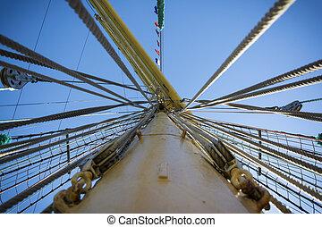 schiff, mast, fluchtpunkt