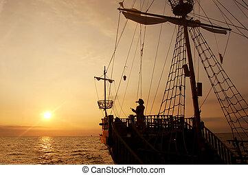 schiff, pirat
