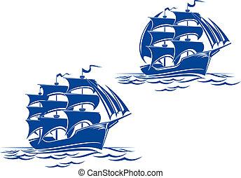 schiff, segel