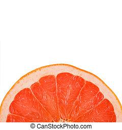 schijfen, helft, grapefruit