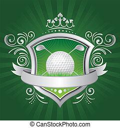 schild, golf