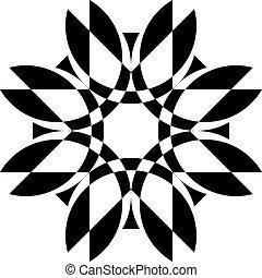schild, pseudo, achtergrond, illusie, 3, arabesk, floral, transparant