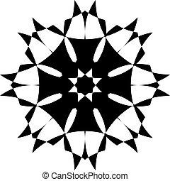schild, tridimensional, arabesk, pseudo, illusie, 3, achtergrond, transparant