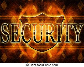 schild, van, veiligheid