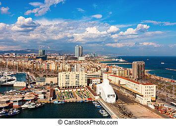 schilderachtig, barcelona, cityscape