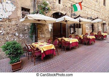 schilderachtig, hoekje, van, tuscany