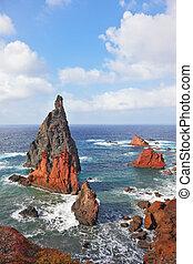 schilderachtig, kleurrijke, islands.