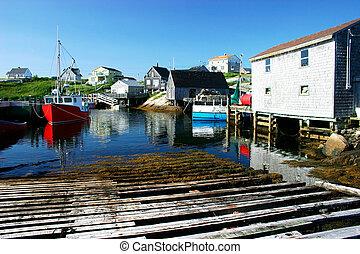 schilderachtig, vissend dorp