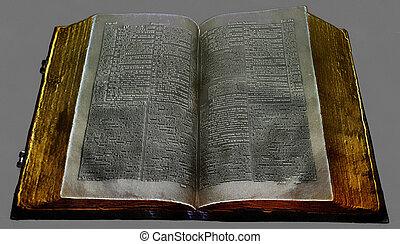 schilderij, 19, bijbel, uniek, eeuw
