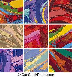schilderij, abstract, vastgesteld ontwerp, achtergrond