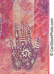 schilderij, ethnische