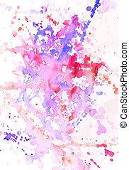 schilderij, watercolour