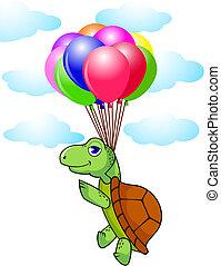 schildpad, balloon