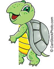 schildpad, leeg teken