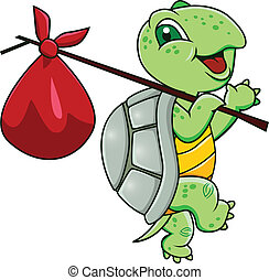 schildpad, spotprent