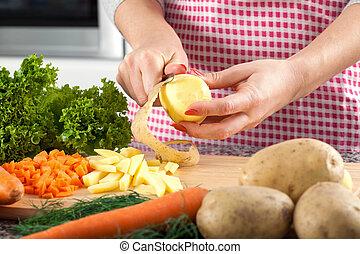schillen, aardappel