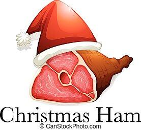 schinkenkate, weihnachten, tragen, hut