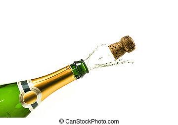 schioccare, champagne
