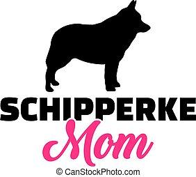 Schipperke mom silhouette
