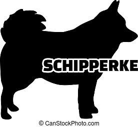 Schipperke silhouette real word