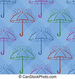 schirm, hintergrund, regen