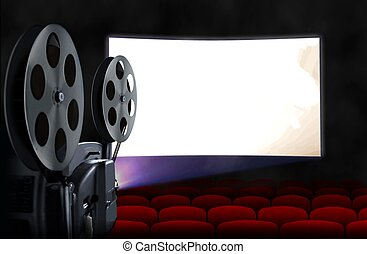 Schirm, projektor, kino