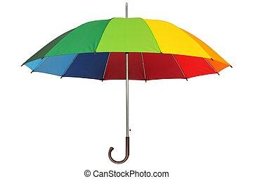 schirm, regenbogen