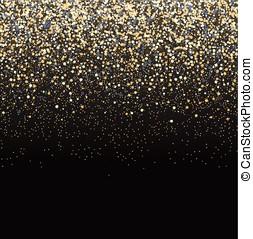 schitteren, black , goud, achtergrond.