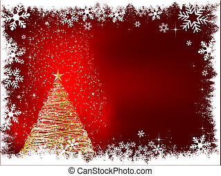 schittering, boompje, kerstmis