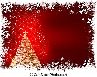 schittering, kerstboom