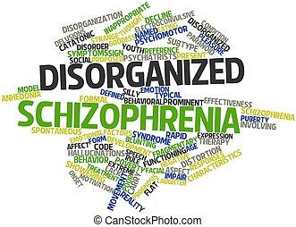 schizofrenie, ontwrichtend
