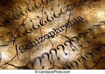 Schizophrenia disease grunge concept