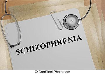 Schizophrenia medical concept