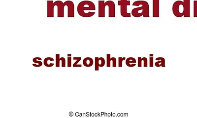Schizophrenia mental health symbol. Psychological disorder...