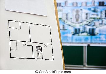 Casa disegno architettonico prospettiva clipart cerca for Schizzo di piani di casa gratuiti
