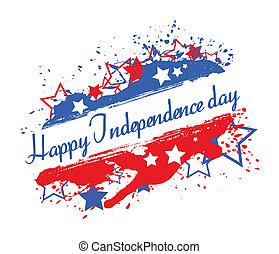 schizzo, bandiera, giorno, indipendenza