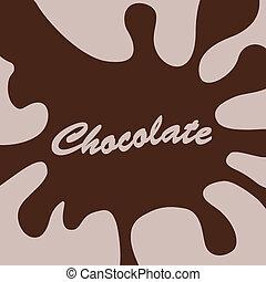 schizzo, cioccolato
