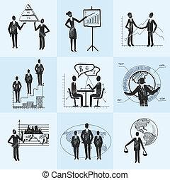 schizzo, composizione, affari