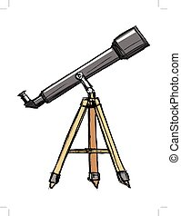 schizzo, di, telescopio