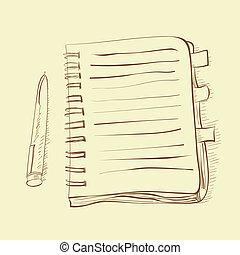 schizzo, quaderno