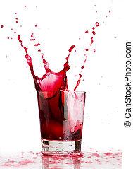 schizzo, rosso, bevanda