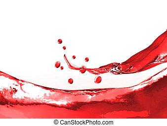 schizzo, vino rosso