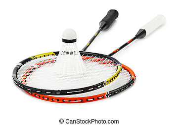 schläger, badminton, federball