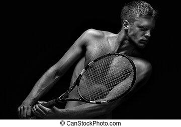 schläger, spieler, tennis