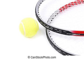 schläger, tennis, freigestellt