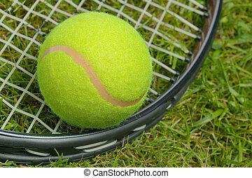 schläger, tennisball, ende
