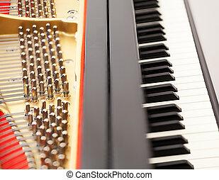 schlüssel, inneneinrichtung, klavier, großartig