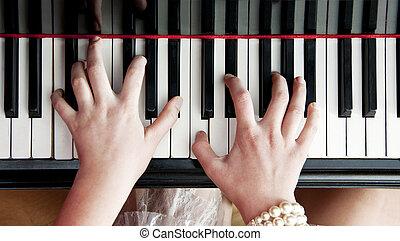 schlüssel, klavier, hände