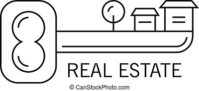 schlüssel, logo, bild, vektor