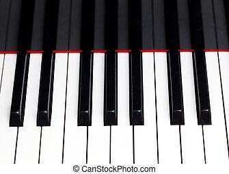 schlüssel, schließen, klavier, auf